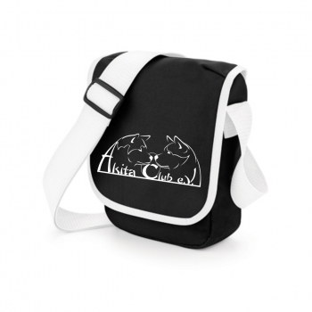 Shoulder bag with Akita Club Logo (V1 - Black/White)