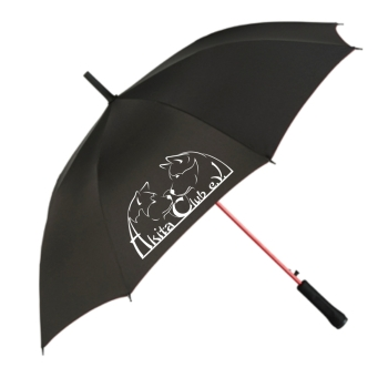 Umbrella with Akita Club Logo (Black)