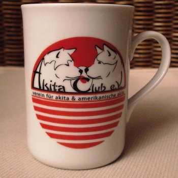 Coffee mog with Akita Club Logo