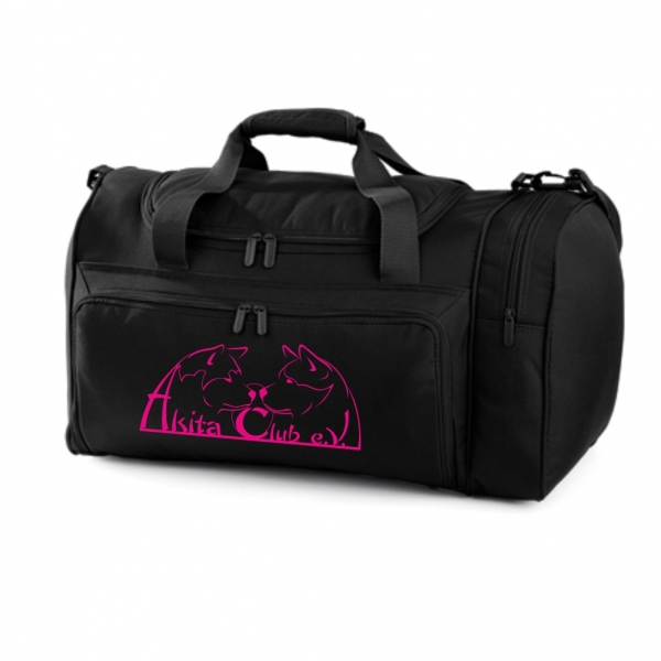 Sports-/Travelbag with Akita Club Logo (Black)